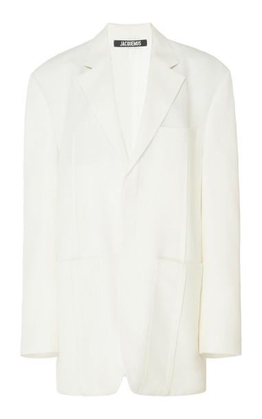 Jacquemus La Veste D'Homme Oversized Twill Blazer Size: 34 in white