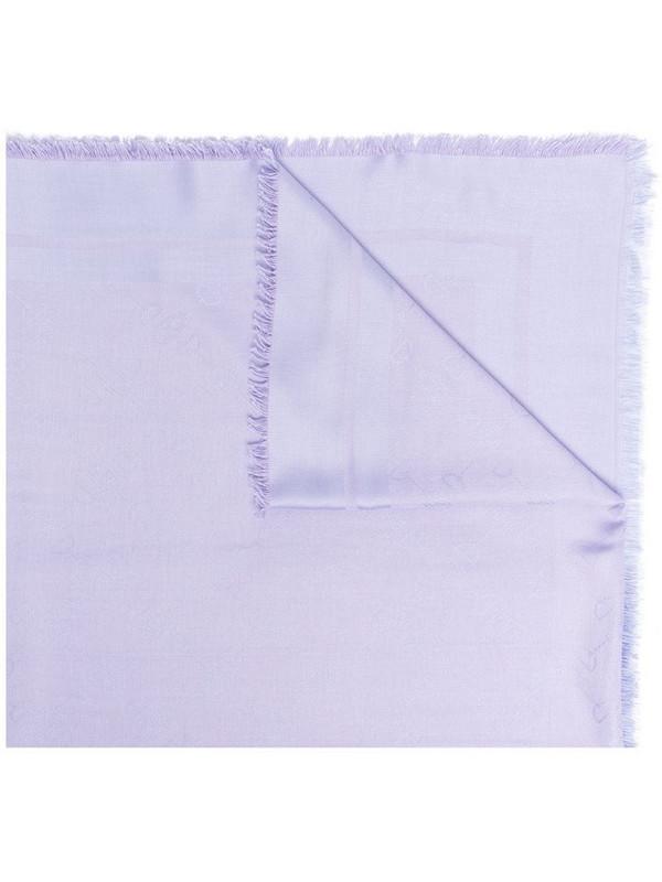 Elisabetta Franchi fringed-edge scarf in purple