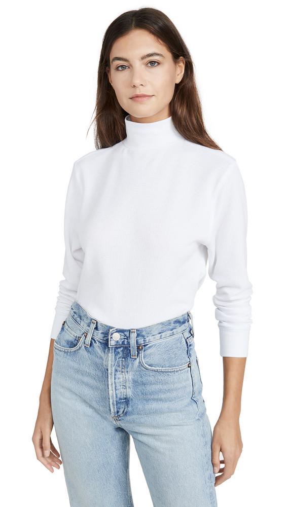 Hanes x Karla The Mock Neck Top in white