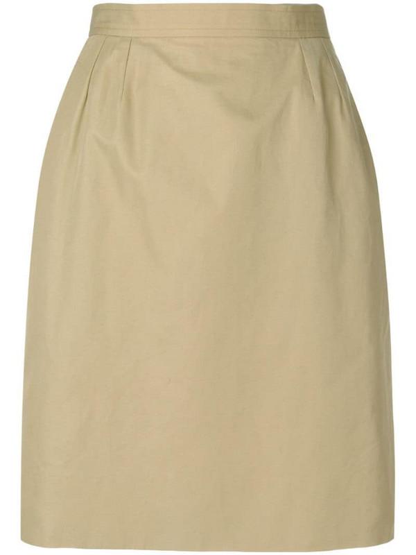 Yves Saint Laurent Pre-Owned high rise straight skirt in neutrals