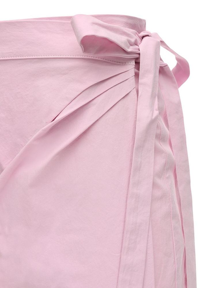 CIAO LUCIA Ponza Cotton Poplin Mini Skirt in pink