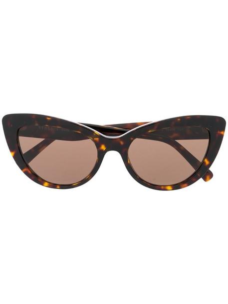 Versace Eyewear oversized sunglasses in brown