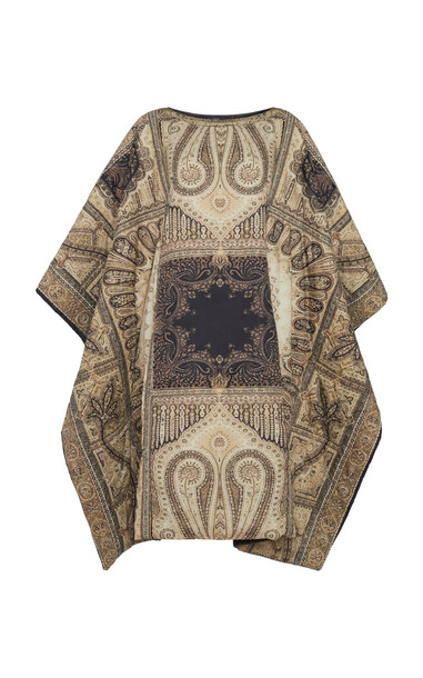 Etro Printed Shell Cape Jacket in multi