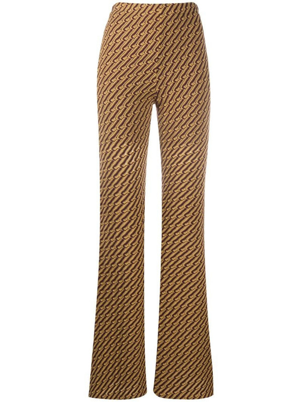Beaufille Riva flared trousers in yellow