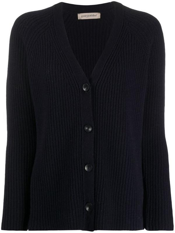 Gentry Portofino chunky knit cardigan in blue