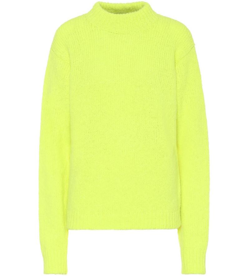 Tibi Cozette alpaca and wool sweater in yellow