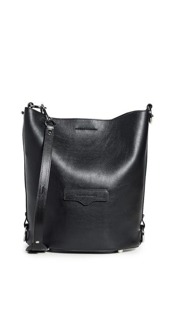 Rebecca Minkoff Utility Convertible Bucket Bag in black