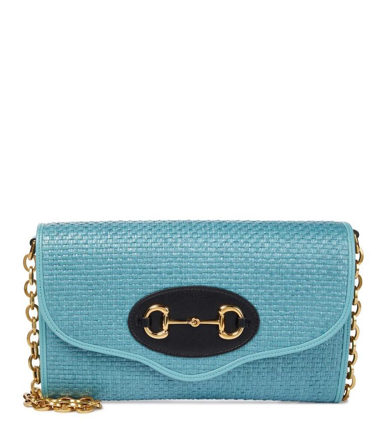 Gucci Horsebit 1955 shoulder bag in blue