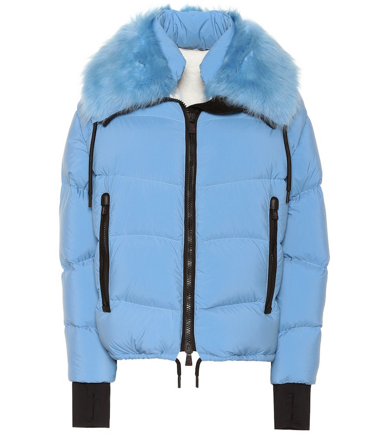 Moncler Grenoble Plaret fur-trimmed down jacket in blue