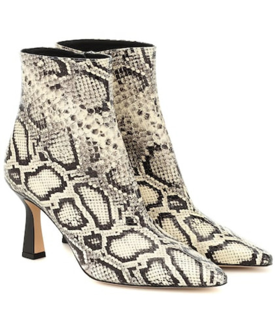 Wandler Exclusive to Mytheresa – Lina snake-effect leather ankle boots