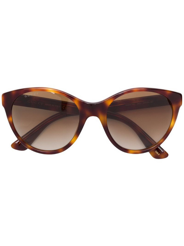 Gucci Eyewear cat eye frame sunglasses in brown