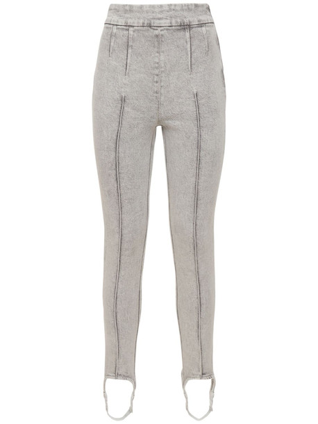 ISABEL MARANT Nanouli Stretch Denim Jeans W/ Stirrups in grey