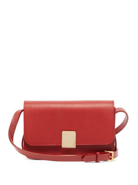 Ferian - Penzance Leather Cross Body Bag - Womens - Red