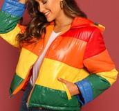 coat,girly,girl,girly wishlist,colorful,zip,zip-up,zip up jacket,puffer jacket