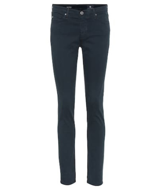 AG Jeans The Prima mid-rise skinny jeans in blue