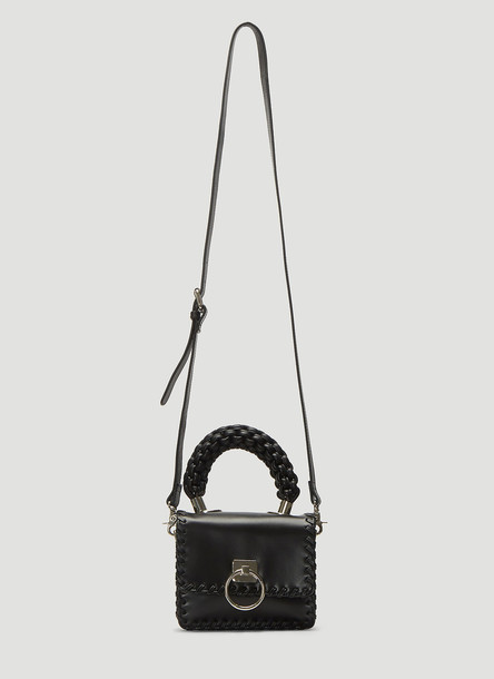Oberkampf Small Braided Handle Bag in Black size One Size