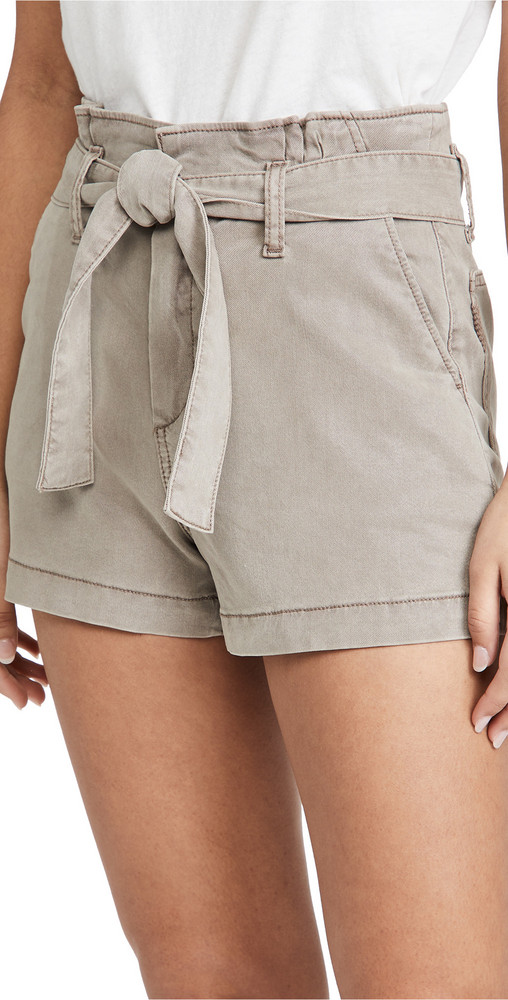 PAIGE Anessa Shorts with Pleated Waistband in taupe