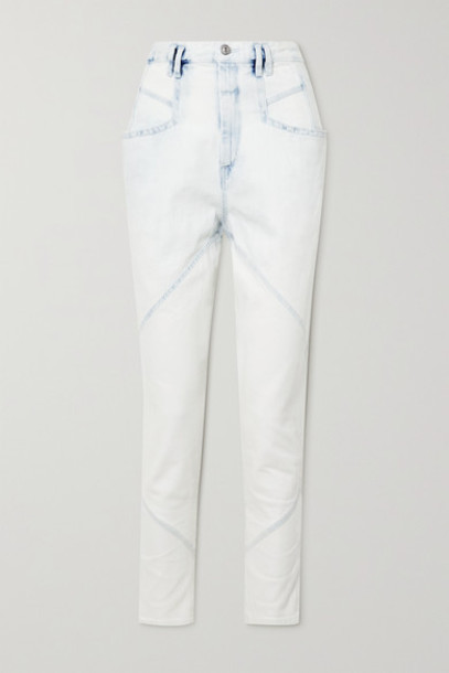 Isabel Marant - Nadeloisa Paneled High-rise Tapered Jeans - Light denim