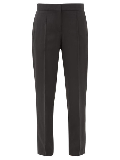 A.P.C. A.p.c. - Lauren Pintucked Twill Trousers - Womens - Black