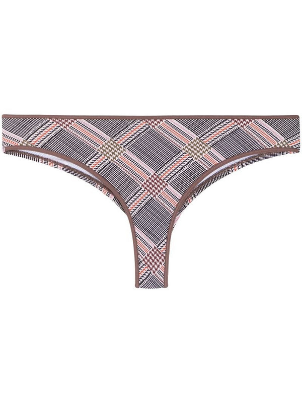 Marlies Dekkers Gloria houndstooth-print butterfly briefs in neutrals