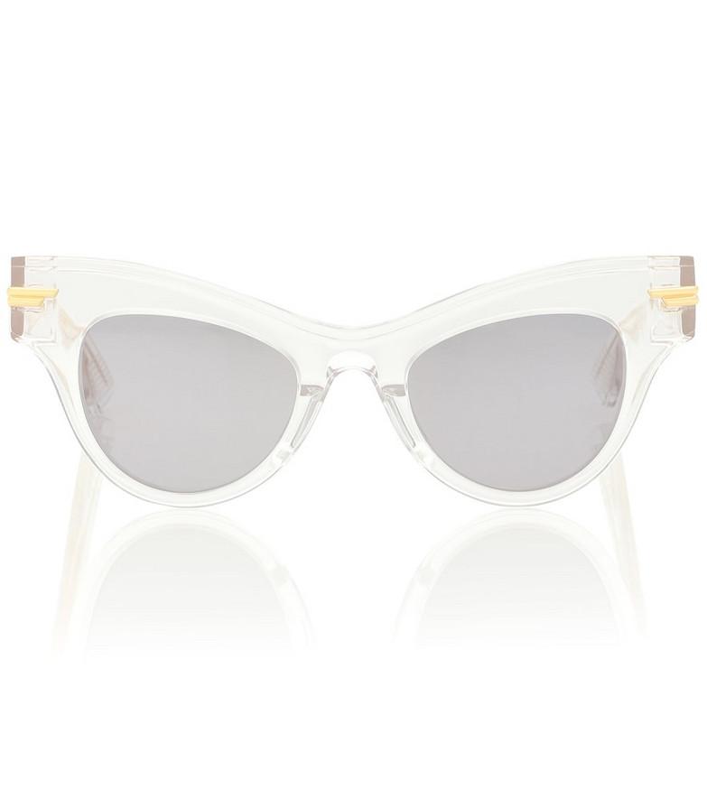 Bottega Veneta 04 cat-eye acetate sunglasses in white