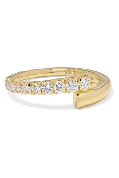 Melissa Kaye - Lola 18-karat Gold Diamond Pinky Ring