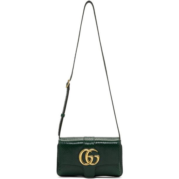Gucci Green Snakeskin GG Arli Bag
