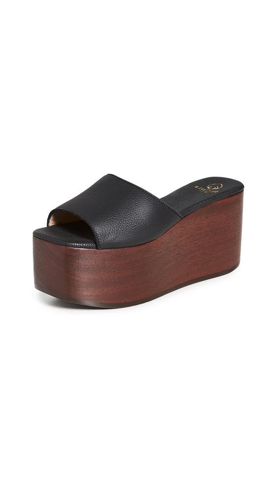 Brother Vellies Abbi Flatform Sandals in midnight