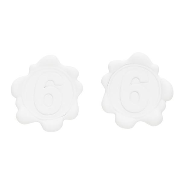 MM6 Maison Margiela White 6 Earrings