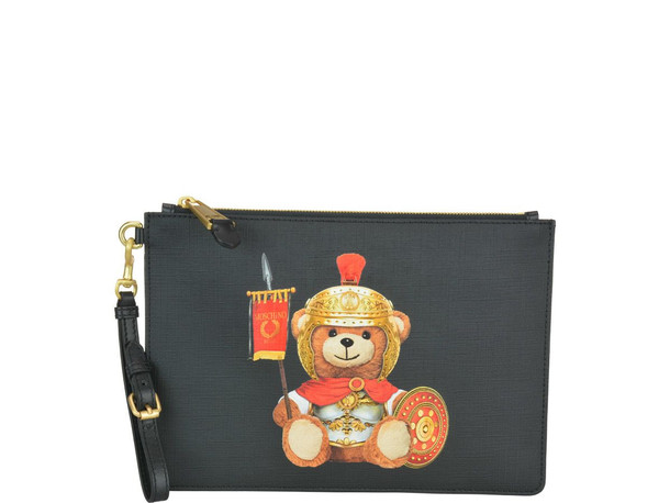 Moschino Roman Teddy Pouch in black