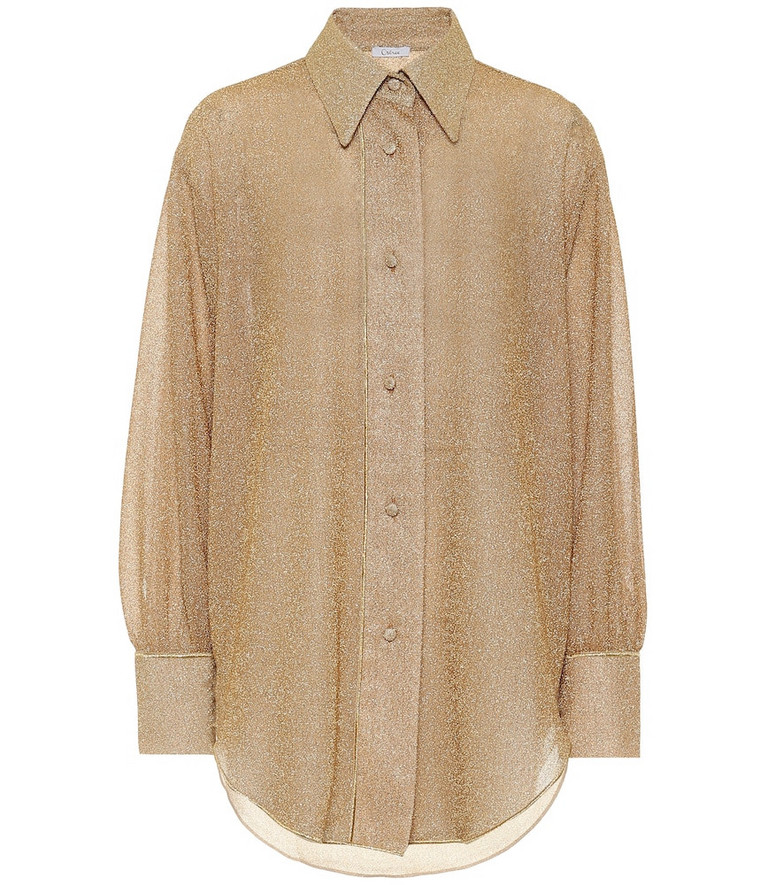 Oséree Lumière shirt in gold