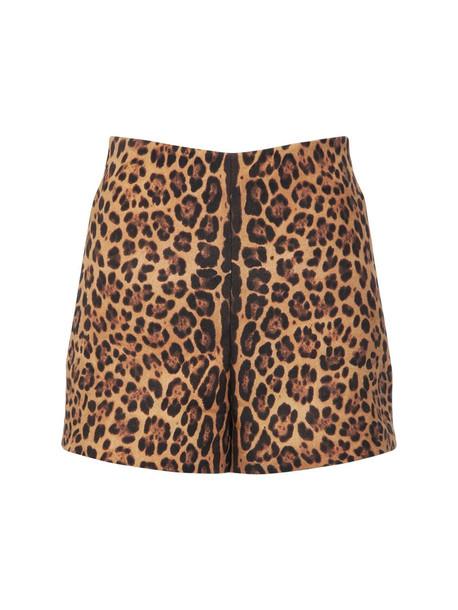 VALENTINO Printed Crepe Couture Mini Shorts