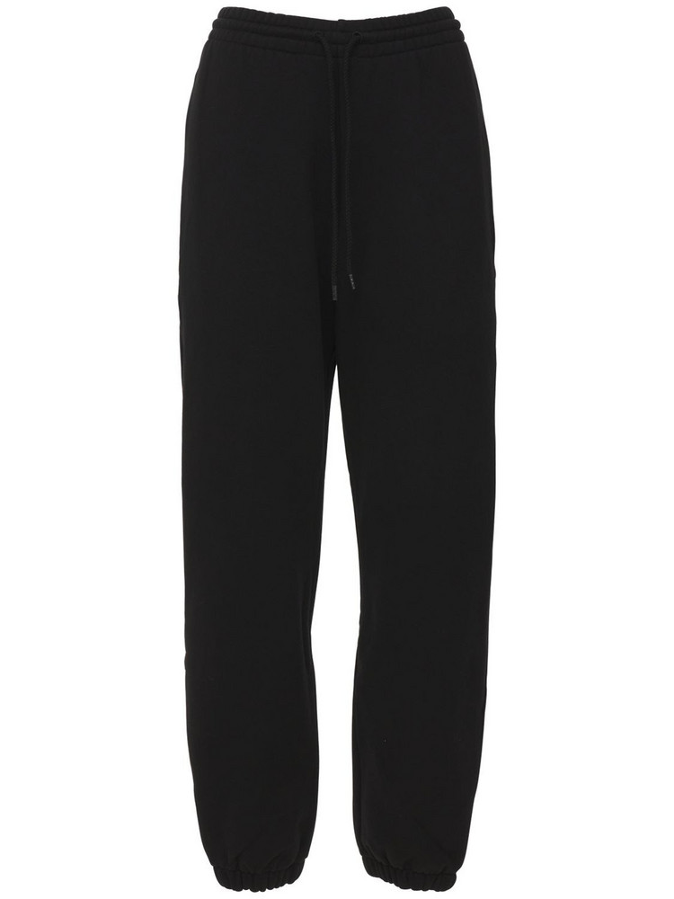 WARDROBE.NYC Unbrushed Cotton Fleece Sweatpants in black