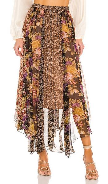 Mes Demoiselles Guimauve Skirt in Brown in multi
