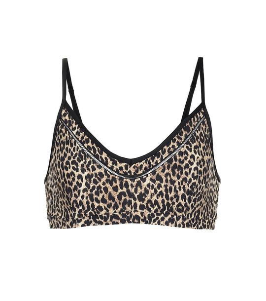 The Upside Leopard-print sports bra in beige