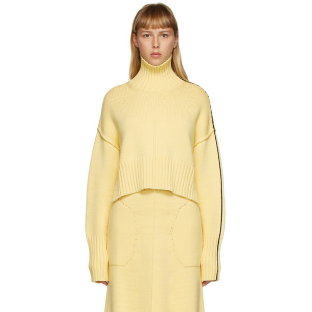 Peter Do SSENSE Exclusive Yellow Cropped Tattoo Turtleneck