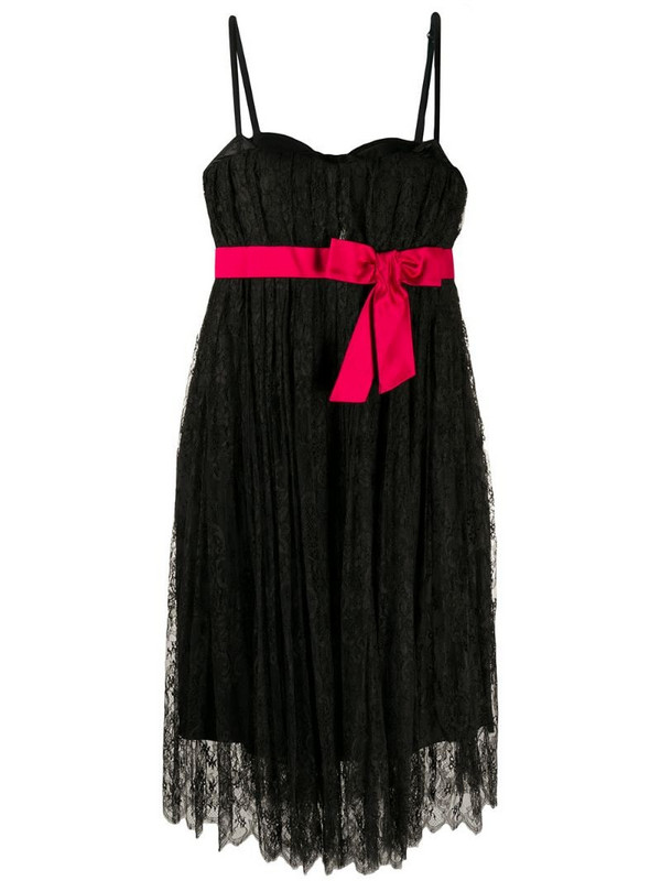 Dolce & Gabbana Pre-Owned bow detail lace dress in black