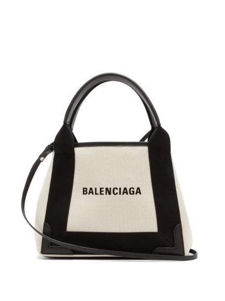 Balenciaga - Cabas Xs Logo-print Cross-body Bag - Womens - Cream Multi