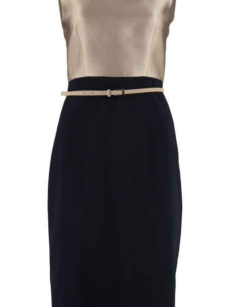 Max Mara Studio Fiorito Belted Sheath Dress in blue
