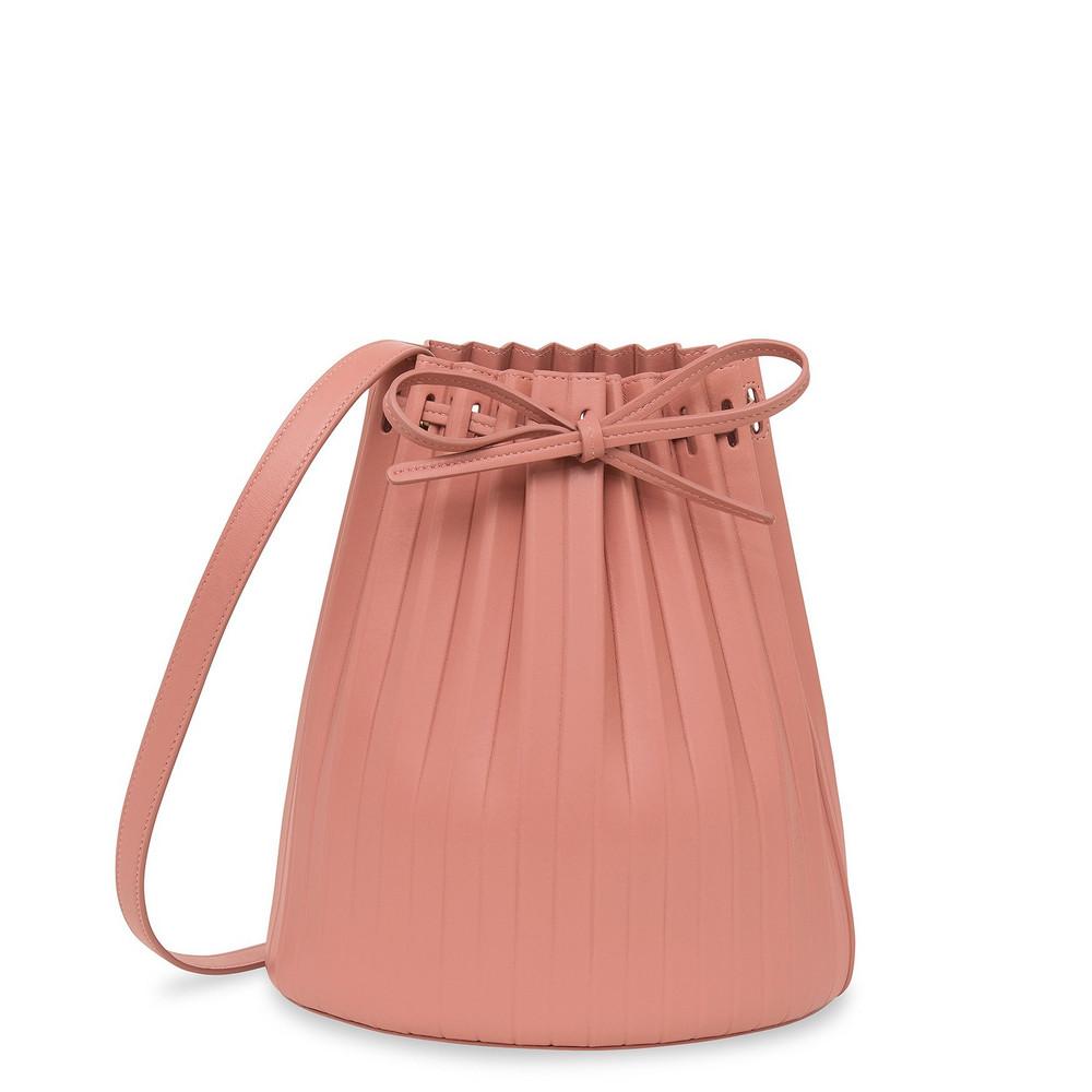 Mansur Gavriel Lamb Pleated Bucket Bag (RE20) - Agretti