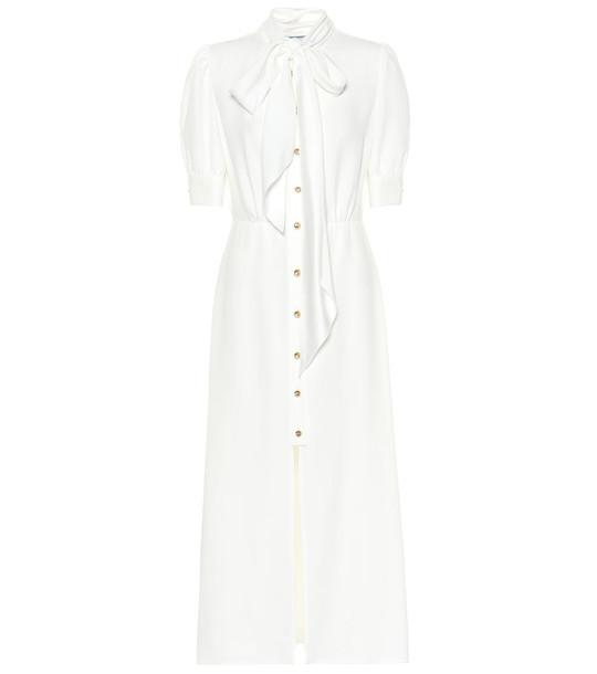 Prada Embellished sablé shirt dress in white