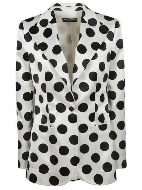 Dolce & Gabbana Polka Dot Blazer in black / white