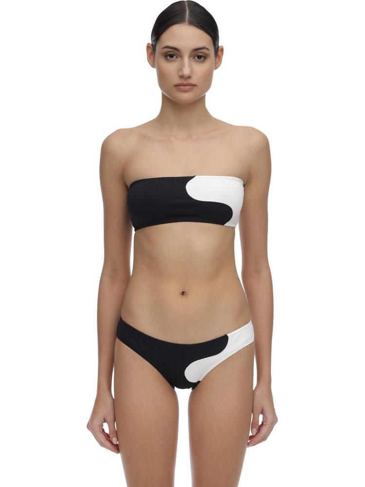 LAURA URBINATI Onde Bandeau Bikini in black / white