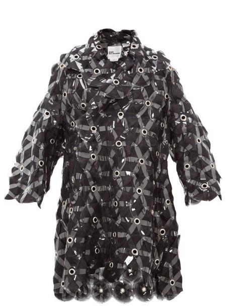 Noir Kei Ninomiya - Tulle Embroidered Evening Coat - Womens - Black