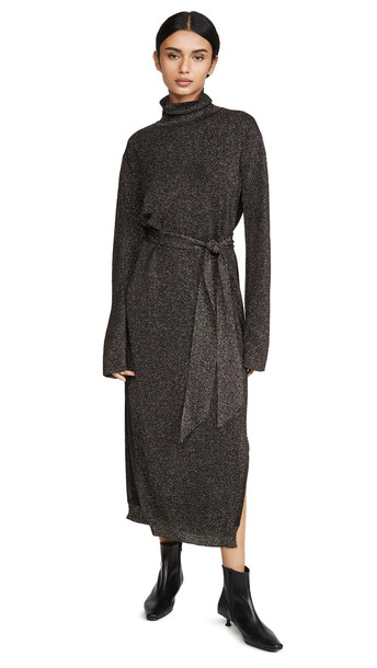 Nanushka Canaan Coat Metallic Dress
