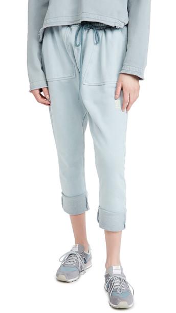 One Teaspoon Ash Blue Jersey Pants