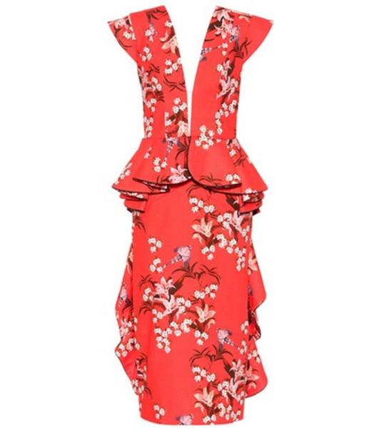 Johanna Ortiz Florearse cotton dress in red