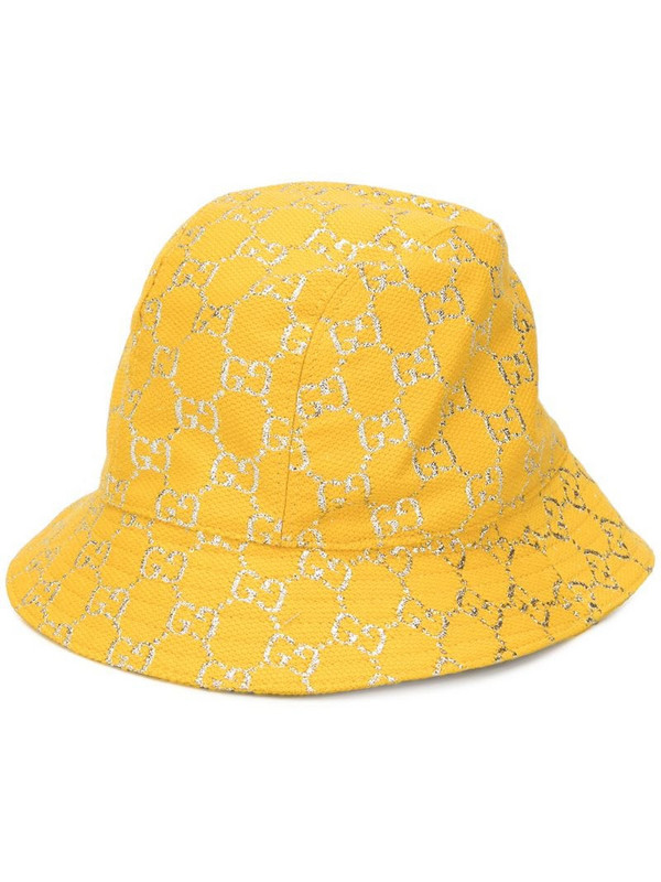 Gucci GG lamé bucket hat in yellow