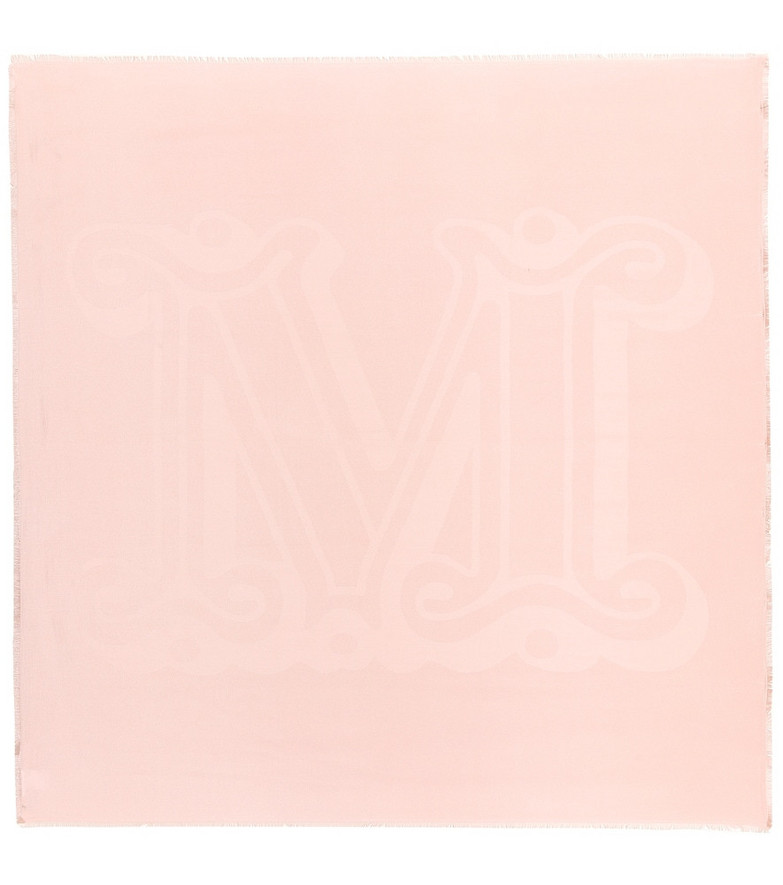 Max Mara Esule silk and cotton scarf in pink