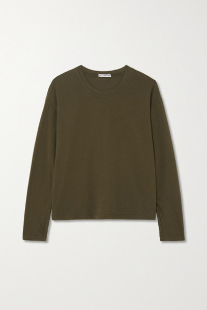 James Perse - Vintage Cotton-jersey T-shirt - Green